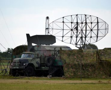 Military radar on a truck - great for topics like defence, flight control etc.