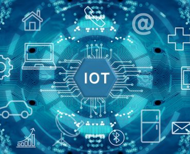 Internet of things, wireless communication network, abstract image visual