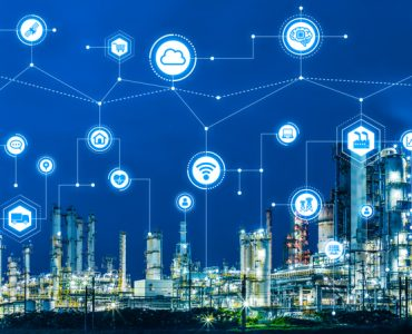 Industry4.0 and IoT(Internet of Things). Factory automation system. AI(Artificial Intelligence).